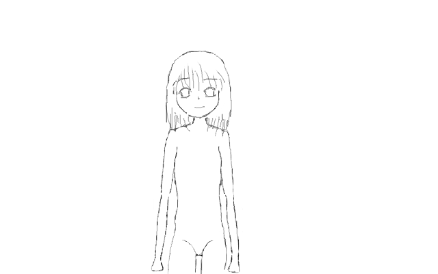 Manga Girl Loli Outline By Fobee