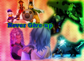 Kingdom hearts-Never give up by Snorri-the-dragon