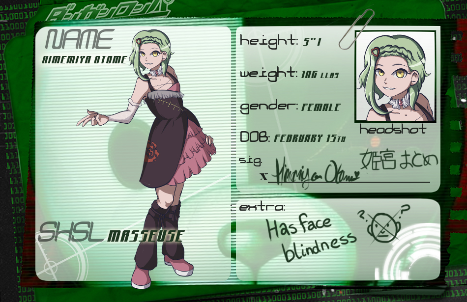 HPA: SHSL Masseuse, Himemiya Otome by Ribbon-Knight