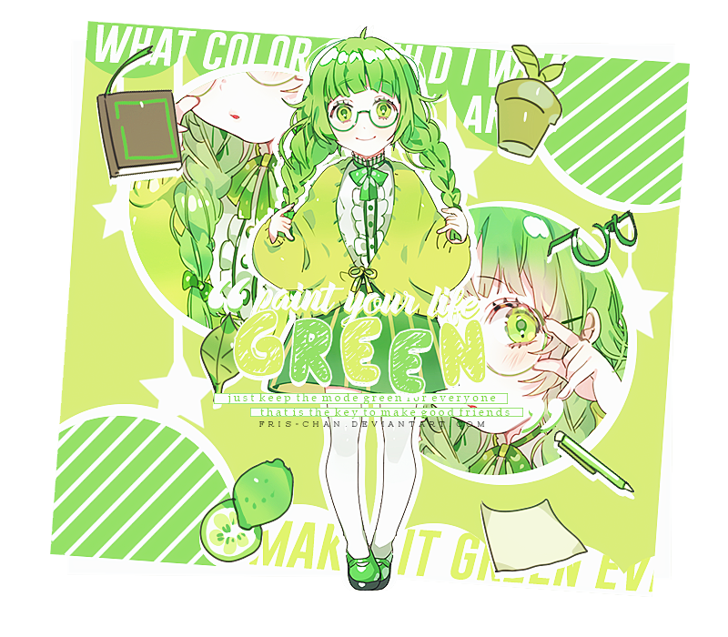 [ Cut Out ] Paint your life Green by Fris-chan