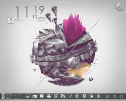 Mnml Desktop April 2011 by Dryztal