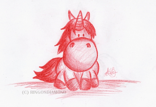 Chibi Unicorn by ringosdiamond