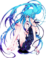 Hatsune Miku No. 2 png by theWhiteDEVIL66