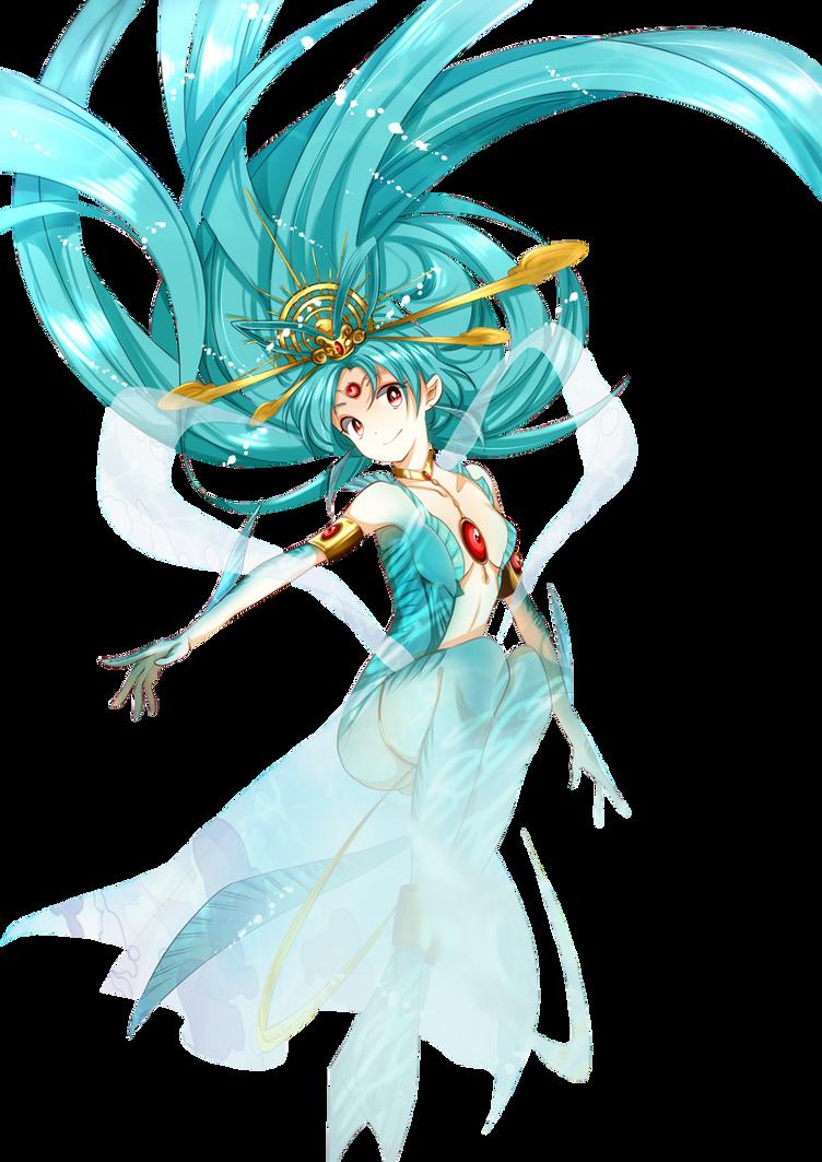 Kougyoku Mermaid Render by theWhiteDEVIL66