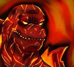 Spooktober 2019 day 24- Burning Godzilla