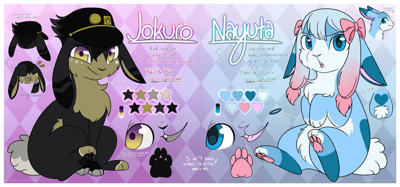 ~Jokuro and Nayuta~ .:REFERENCE SHEET:. by Quizzan