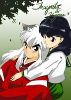 Inuyasha and Kagome by mosuga