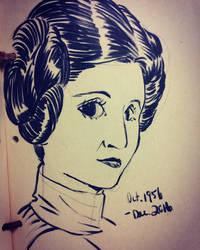RIP Princess Leia by mosuga