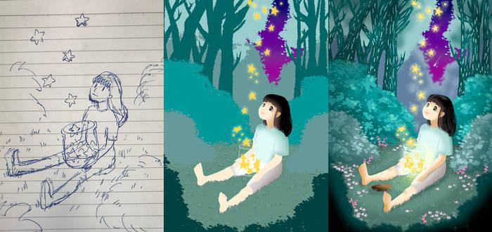 Progress - Starry, starry night by mosuga