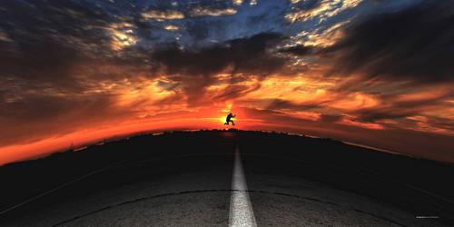 flying in the clouds ii by GiannisJ