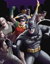 Batman and Robin by tricketitrick