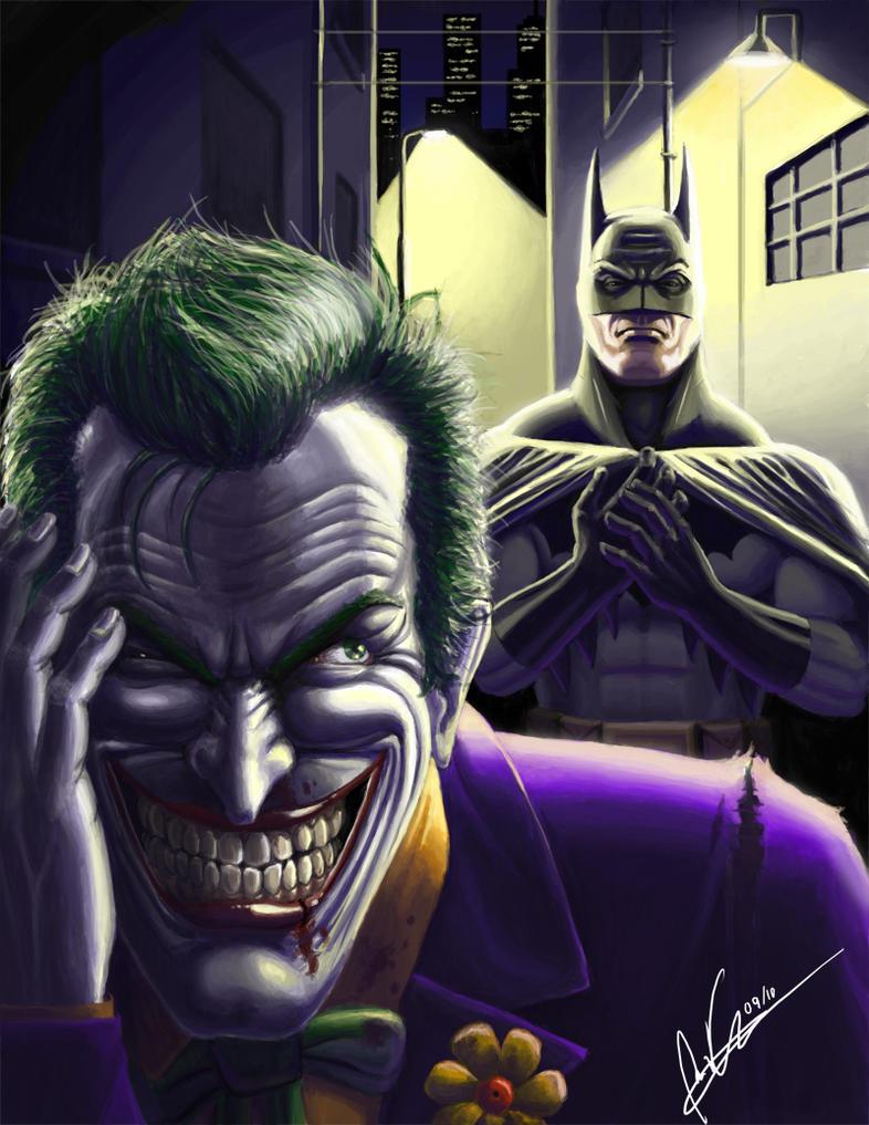 Batman and The Joker by tricketitrick