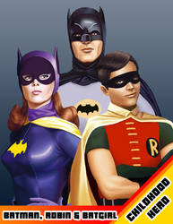 Childhood Hero - Bat trio by tricketitrick