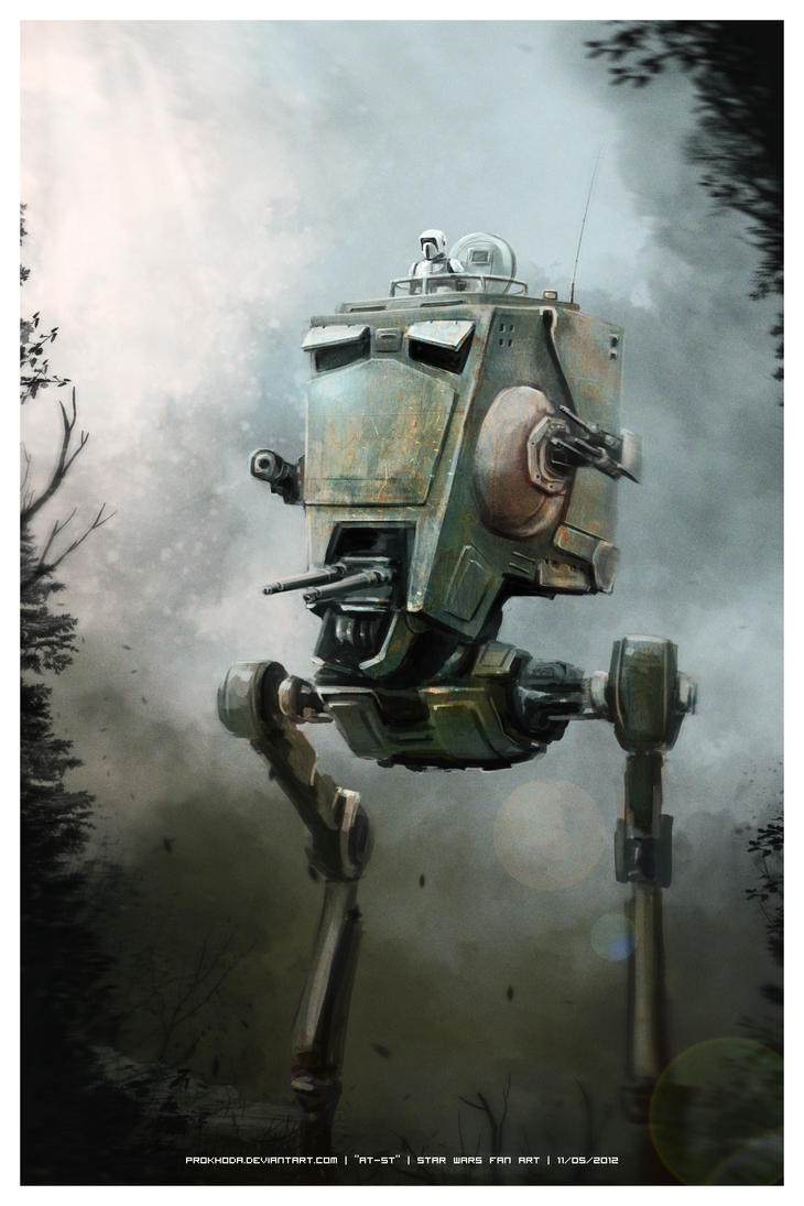 AT-ST (Star Wars fan art) by prokhoda