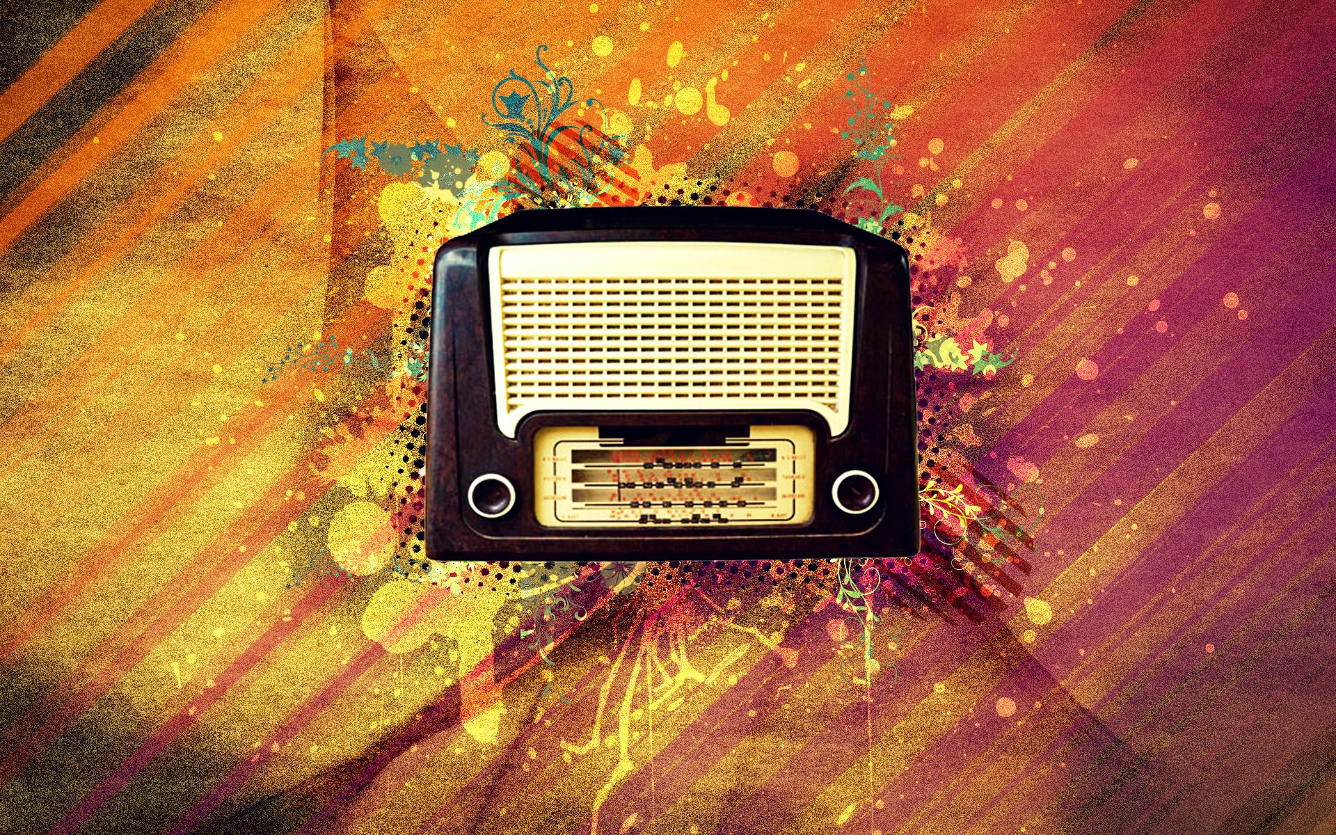 vintage radio wallpaper 876735