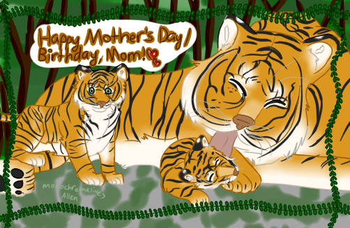 Happy Mother's Day / Birthday, Mom! by monochromelives