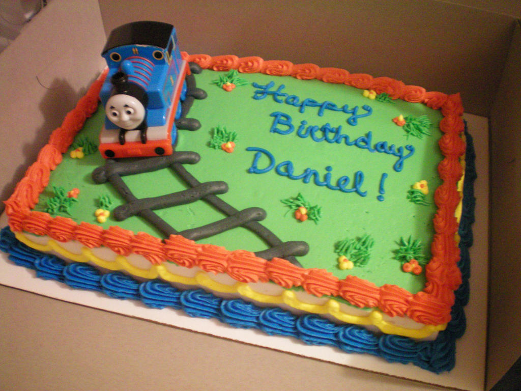 Easy Train Cake Design : Thomas the train b-day cake by SomeShyGirl on DeviantArt