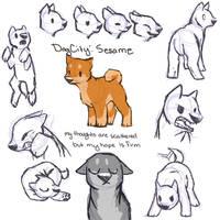 dogcity: sesame concept sketch page