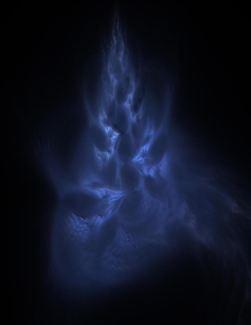 Blue fractal flame