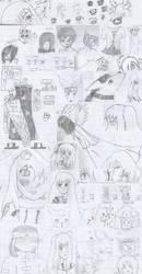Seventh Grade Notebook [Sketchdump 2006] by NozomiMomuchu