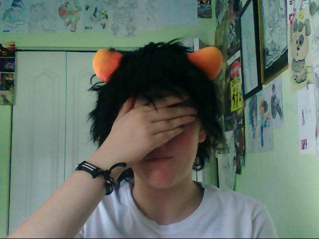 Karkat Cosplay Horns Karkat Wig And Horns Wip by