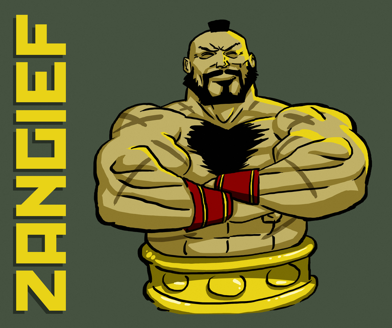 Zangief Drawing by Rahmargh