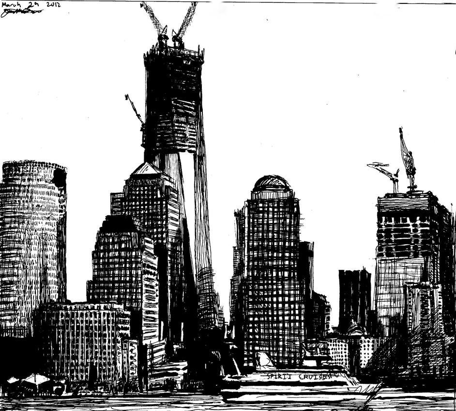 Freedom Tower Construction by MothmanmenueverJon on DeviantArt