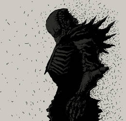 Black Gauna drawesome doodle by grayamir