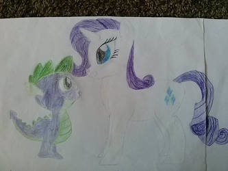 Rarity and Spike by GuillermoGage