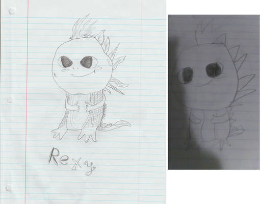 Rexy: a Fakemon my 10-year-old nephew created