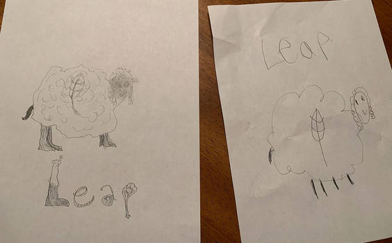 Leap: A Fakemon created by my 7-year-old nephew