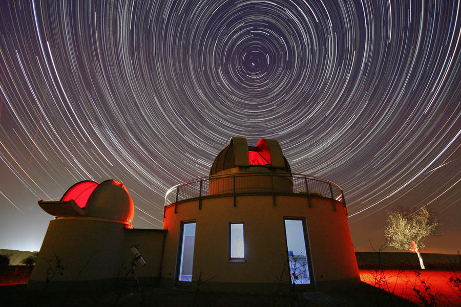 Star Trails with space observatory