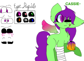 Cassie (New Style) -REF SHEET- by ScootaSpark