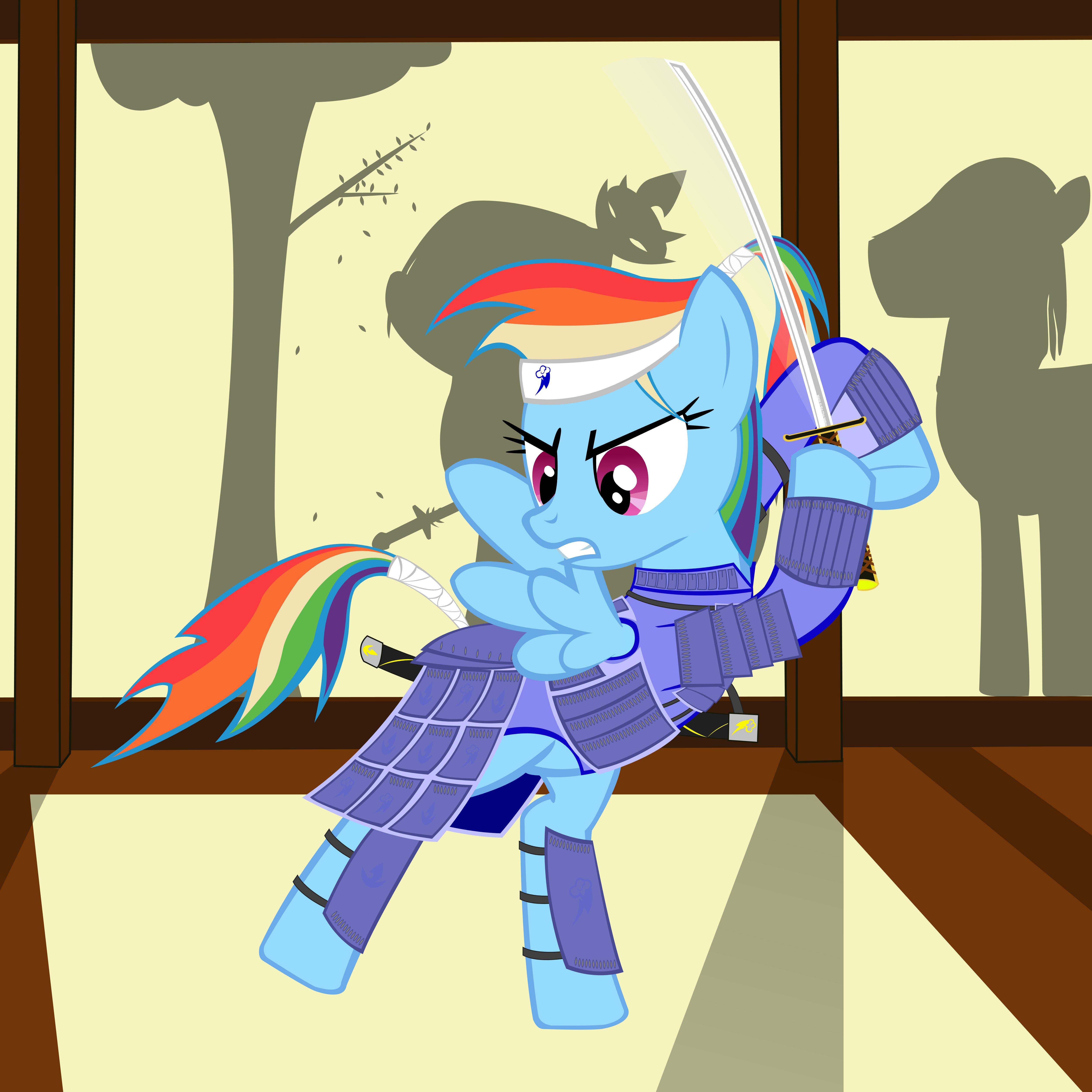 Warriors Of The Rainbow 2 Vietsub: Samurai Rainbow Dash By GennadyKalugina On DeviantArt