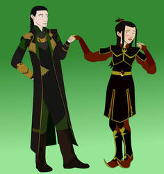 Azula and Loki by GennadyKalugina