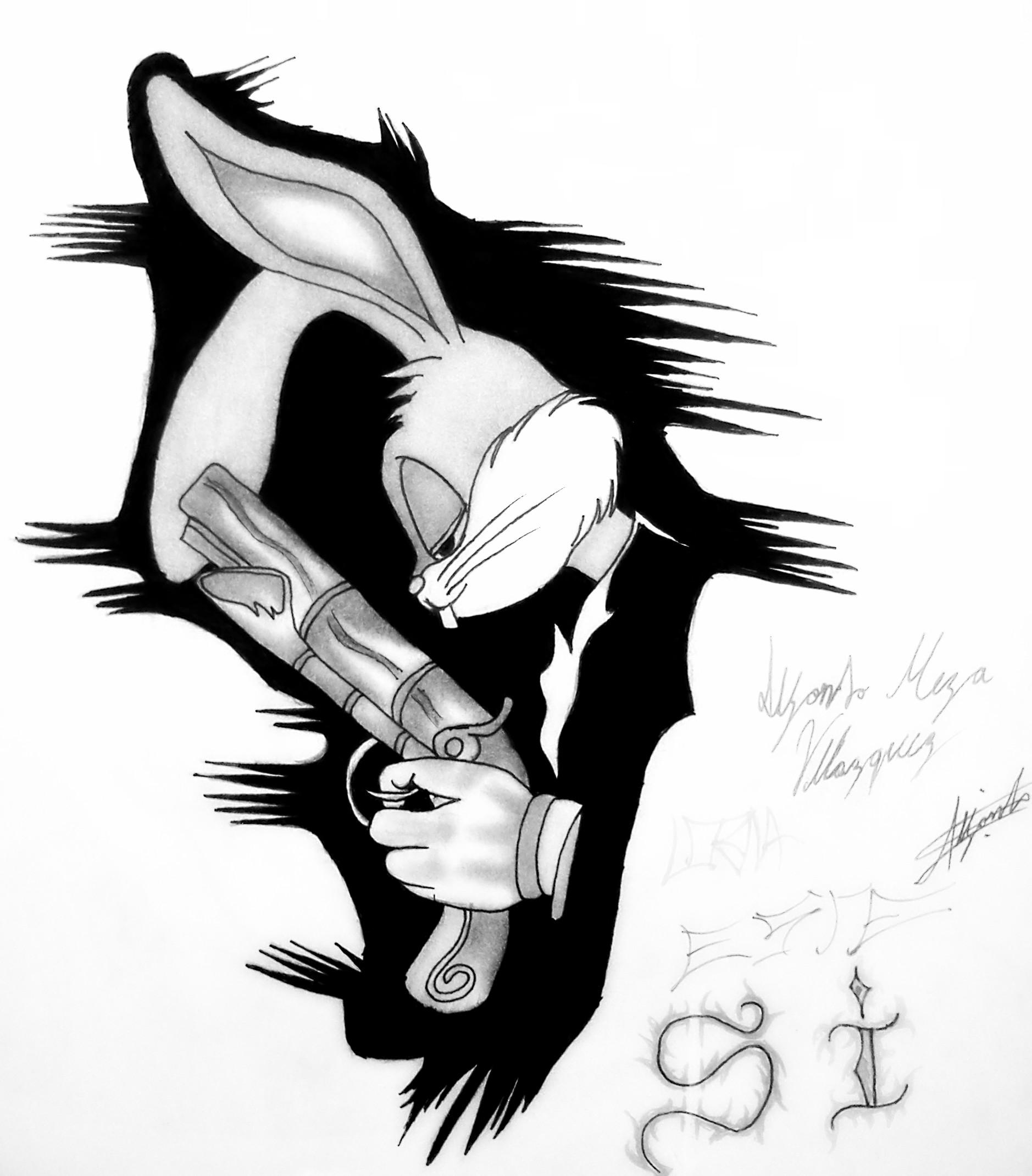 Gangsta Bugs Bunny...$19.99 with free shipping | Cartoon ...  |Bugs Bunny Cholo