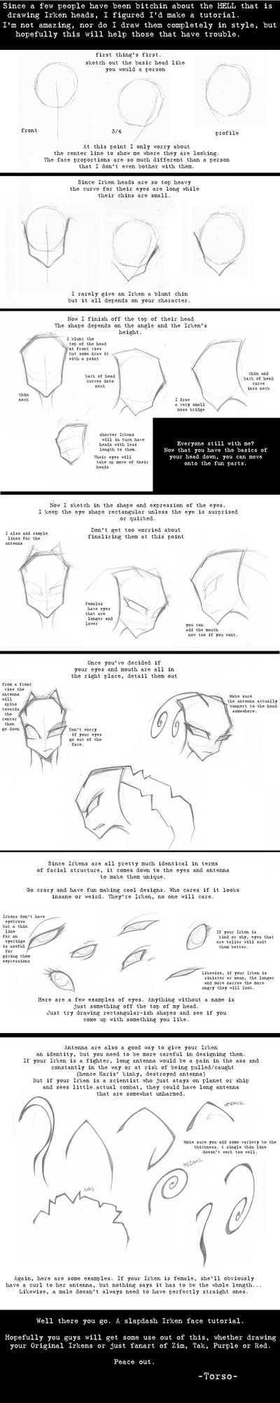 Irken head tutorial by uppertorso