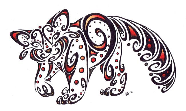 Red Panda Spiral by apox0n