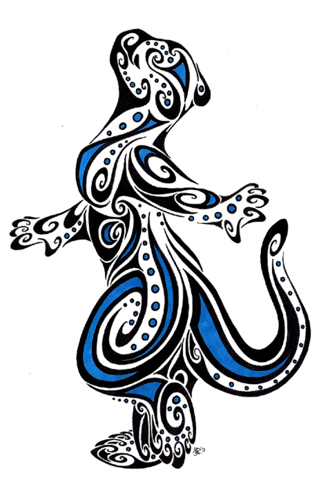 Dancing Otter Tribal By Apox0n On Deviantart