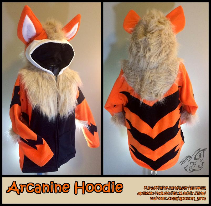 Arcanine Hoodie by apox0n