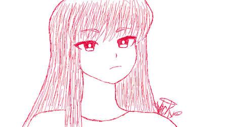 Woman Sketch MS Paint