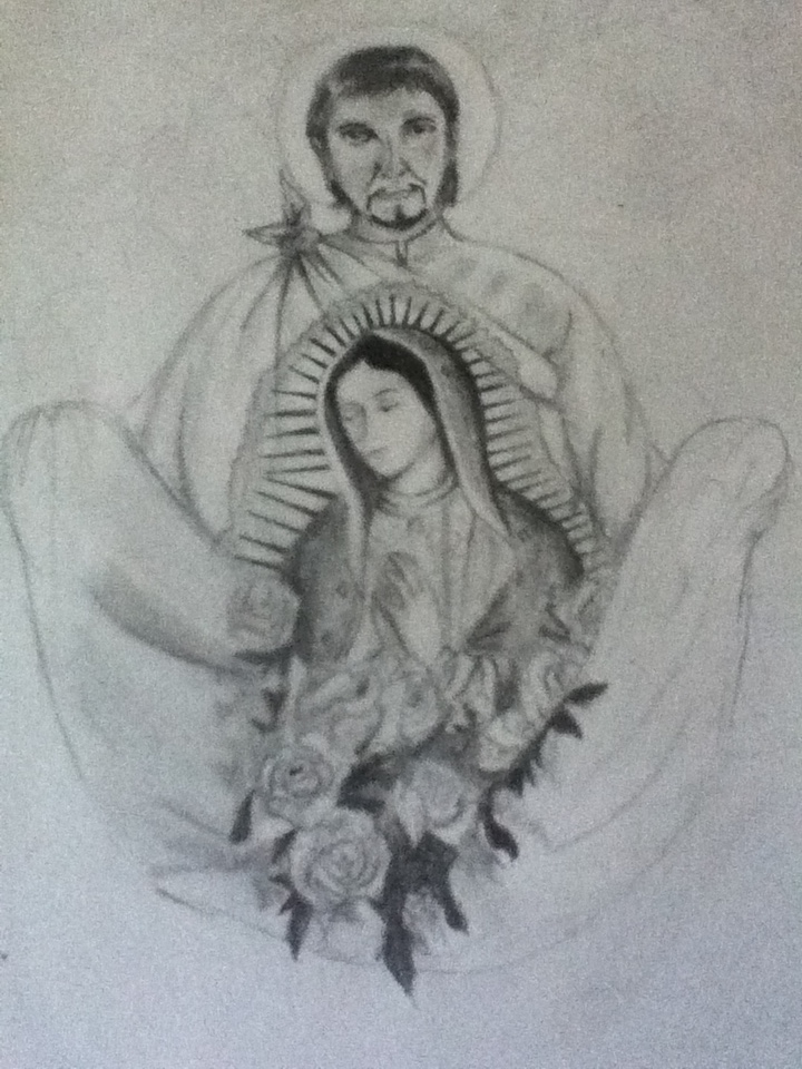 Juan Diego, y la Virgen de Guadalupe by Crossing-Borders on DeviantArt