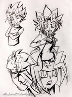Yugi Sketches by Whiskers777