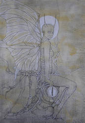 seated angel by inkzoo