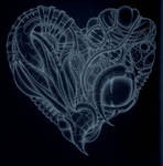 x-ray cyberpunk heart