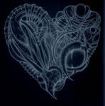 x-ray cyberpunk heart by inkzoo