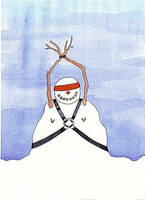 bondage snowman by inkzoo
