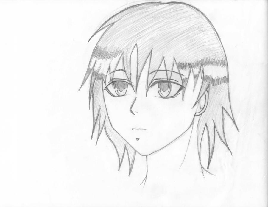 Anime face drawing practice by realcharacter456