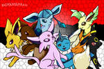 SO MANY EEVEE! D: