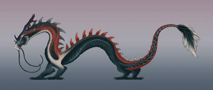 Draconia (Eastern Dragon) - Cherry Haiku